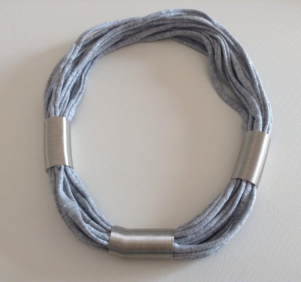 Collana Rollè grigio e argento