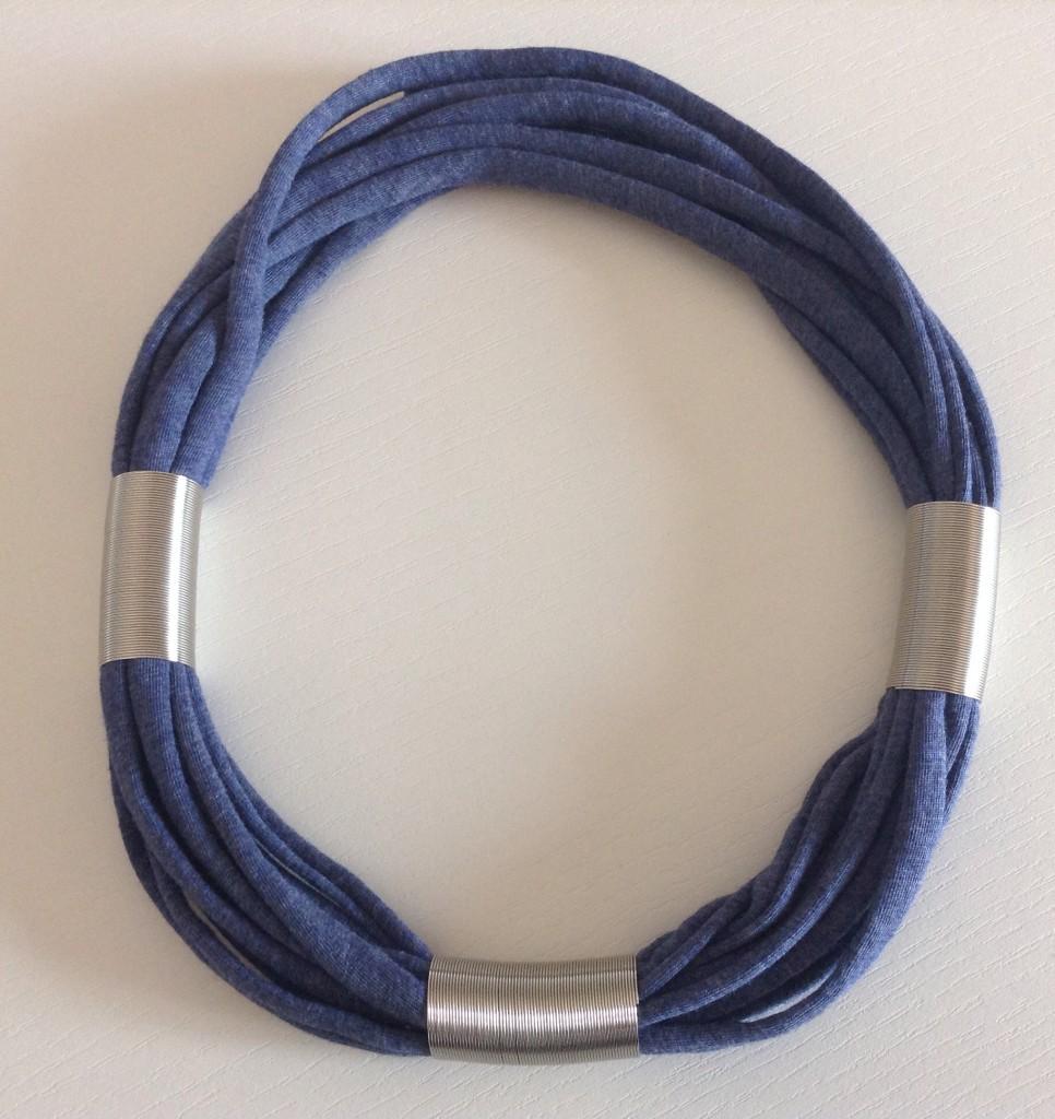 Collana Rollè blu e argento