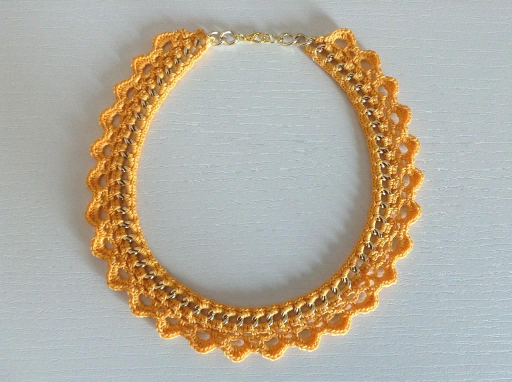 Collana gialla tonda catena oro